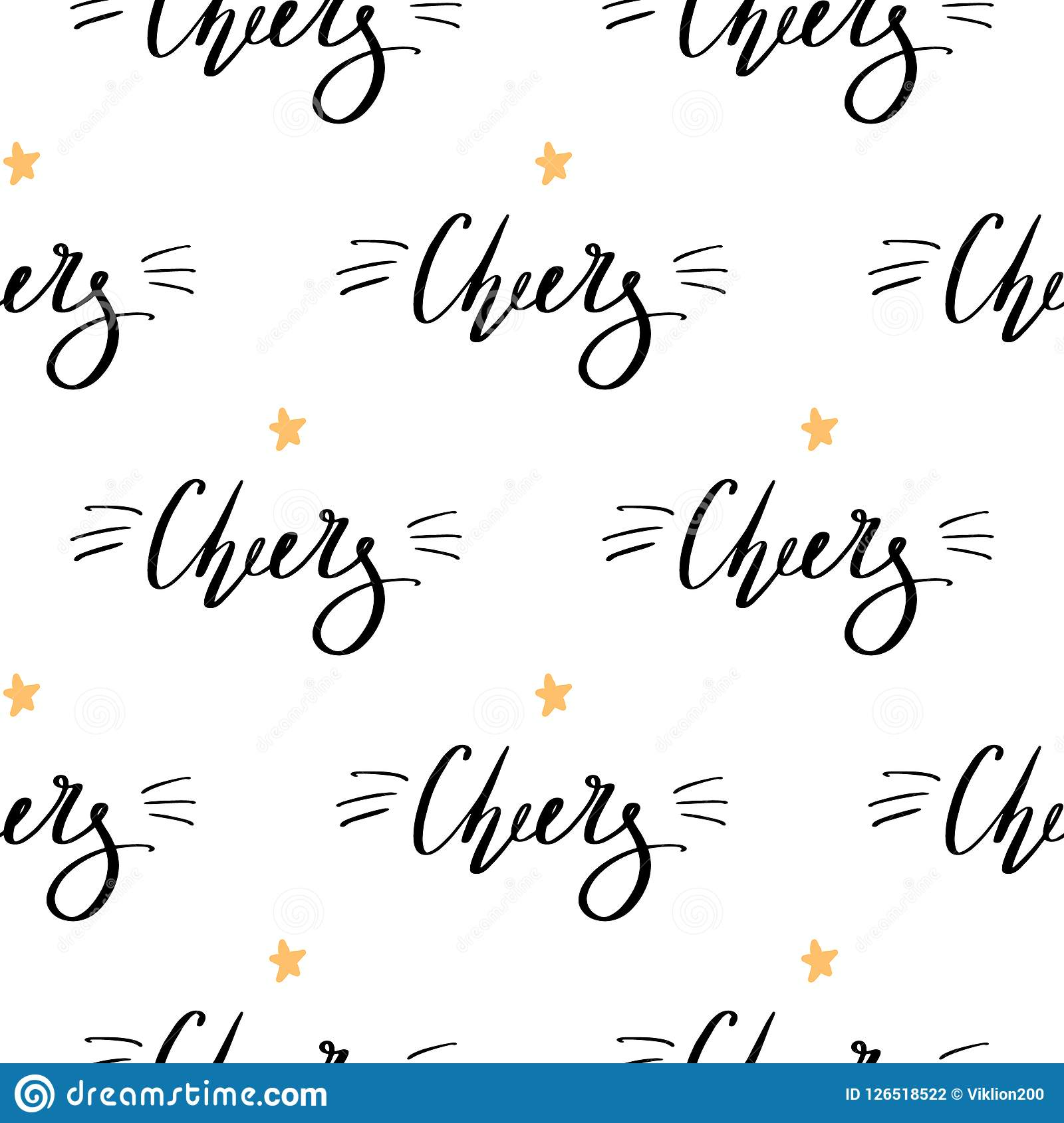 Christmas Background With Handdrawn Lettering Cheers Black Fonts ...