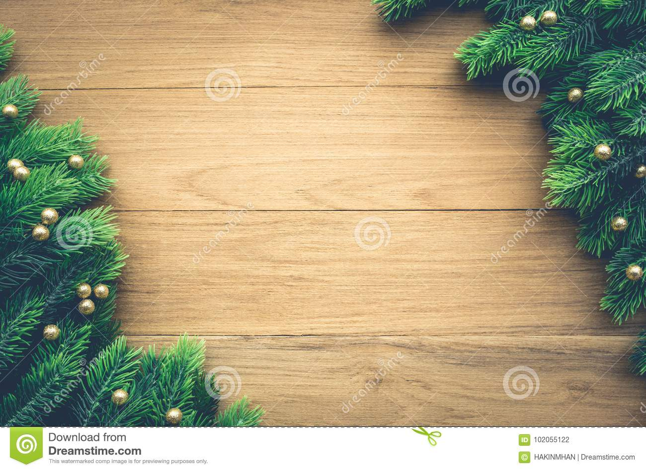 Christmas Background Ideas Concept With Pine Branch Decoration On