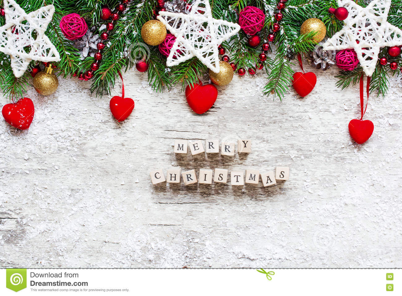 download christmas background with merry christmas inscription on wooden stock image image of border - Merry Christmas Decorative Blocks
