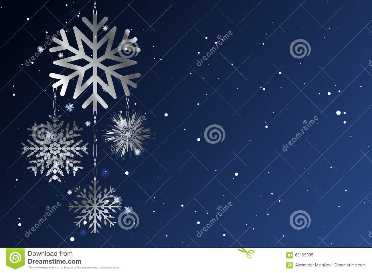Christmas A Background From Metal Snowflakes.Vector Stock