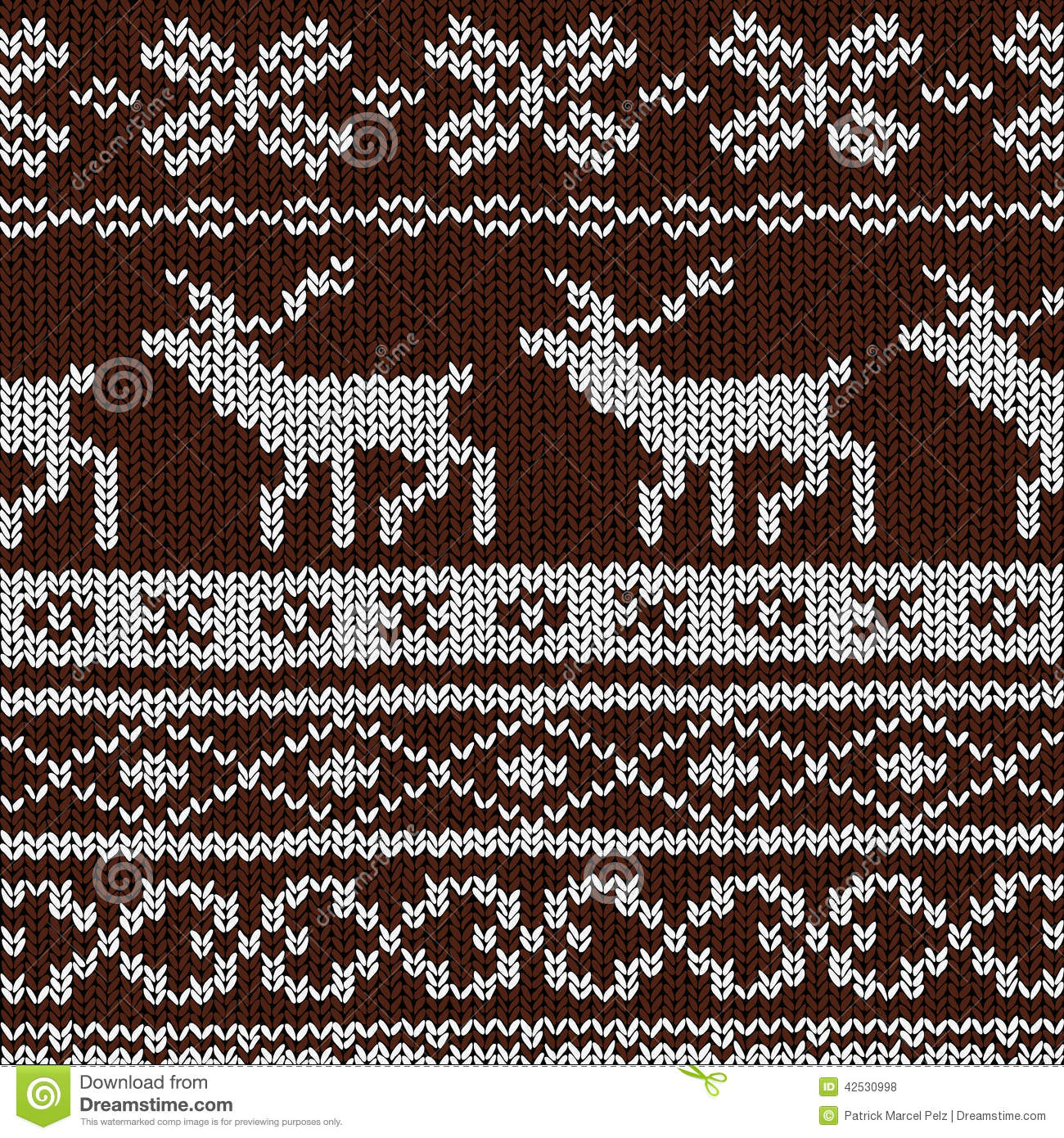 Scandinavian Knitting Patterns : Christmas Background - Norwegian Knitting Patterns Stock Vector - Image: 4253...