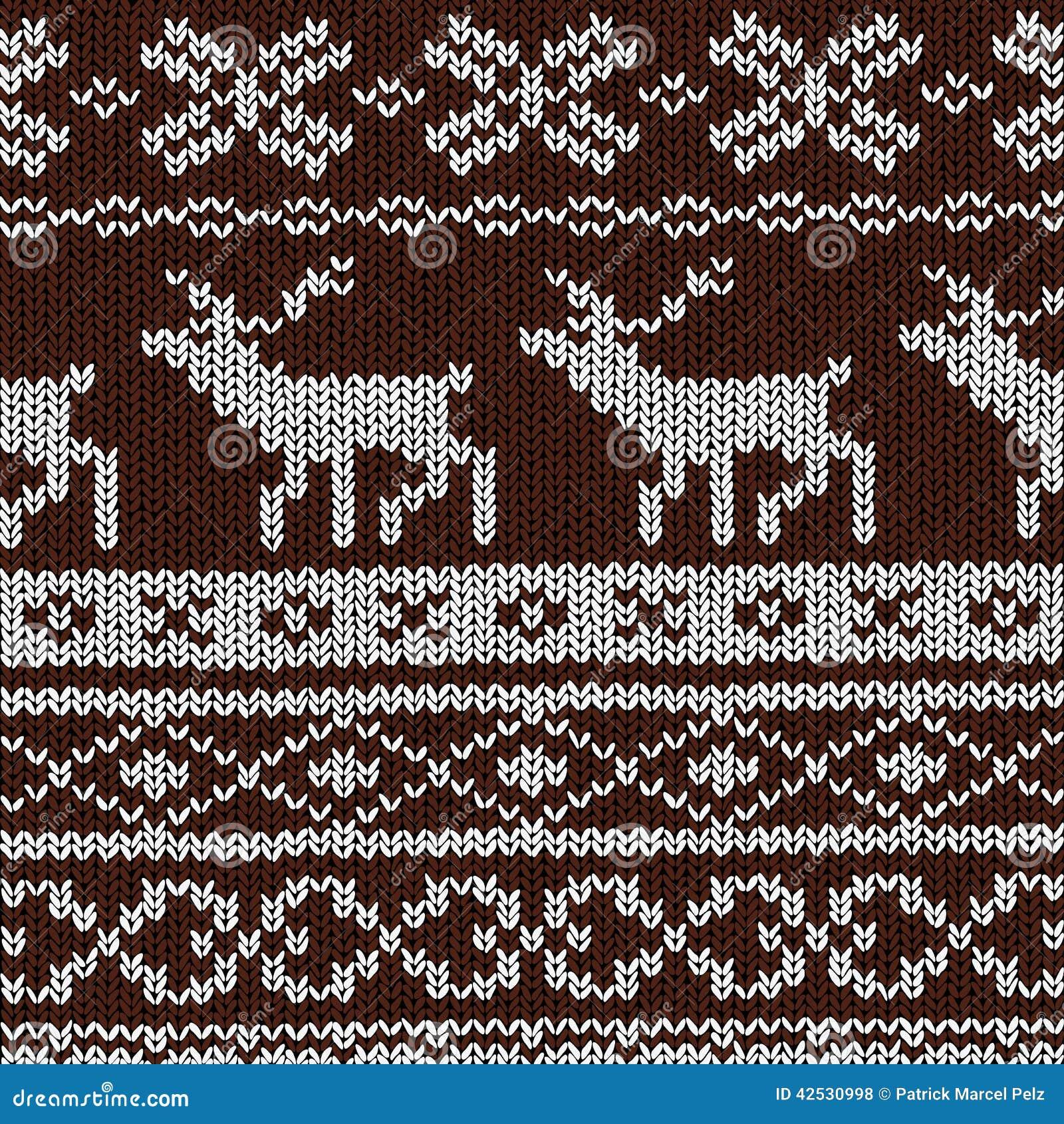 Christmas Background - Norwegian Knitting Patterns Stock Vector - Image: 4253...