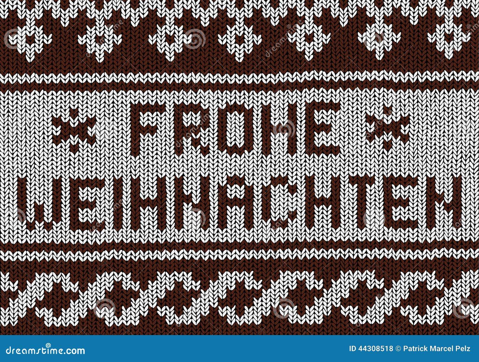 Christmas Background - Norwegian Knitting Patterns Stock Vector ...
