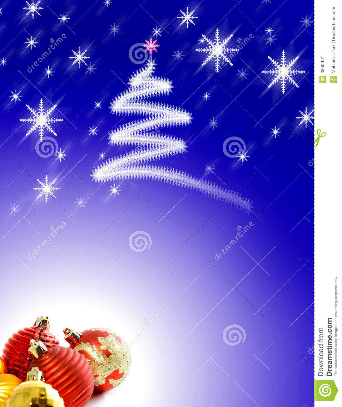 Christmas Background With Ornaments Royalty-Free Stock ...