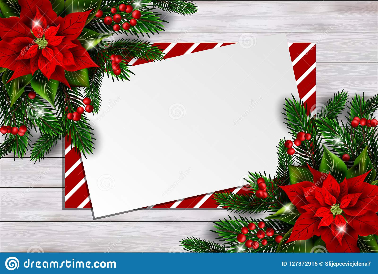 christmas background with poinsettia and empty card stock vector illustration of banner board 127372915 https www dreamstime com christmas background poinsettia empty card christmas background poinsettia empty card copy space text image127372915
