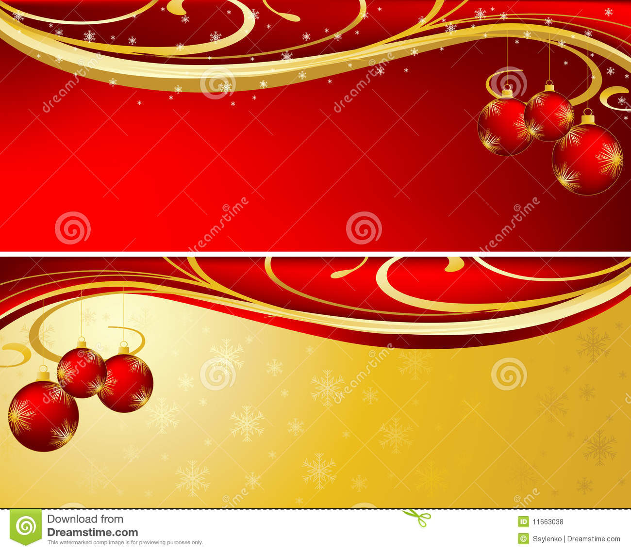 christmas background red and gold stock vector illustration of