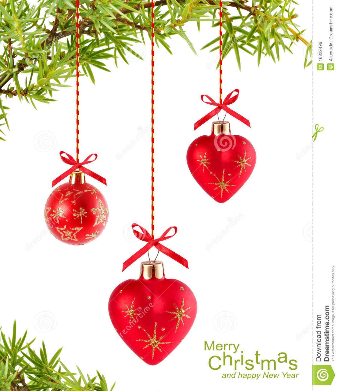 Photo christmas ball heart shaped red decoration new year