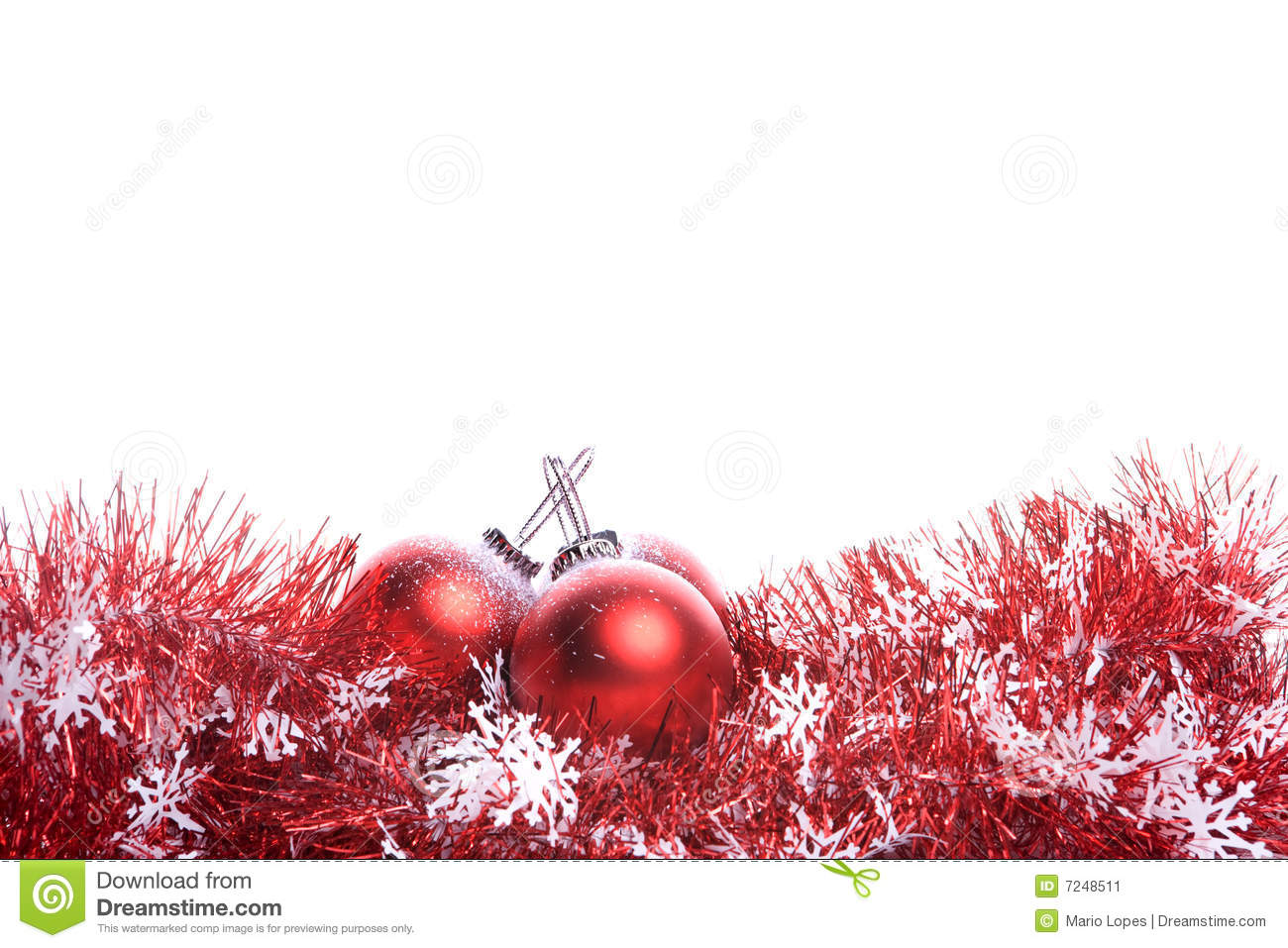 Christmas background with red ribbon and balls stock image for Christmas red and white