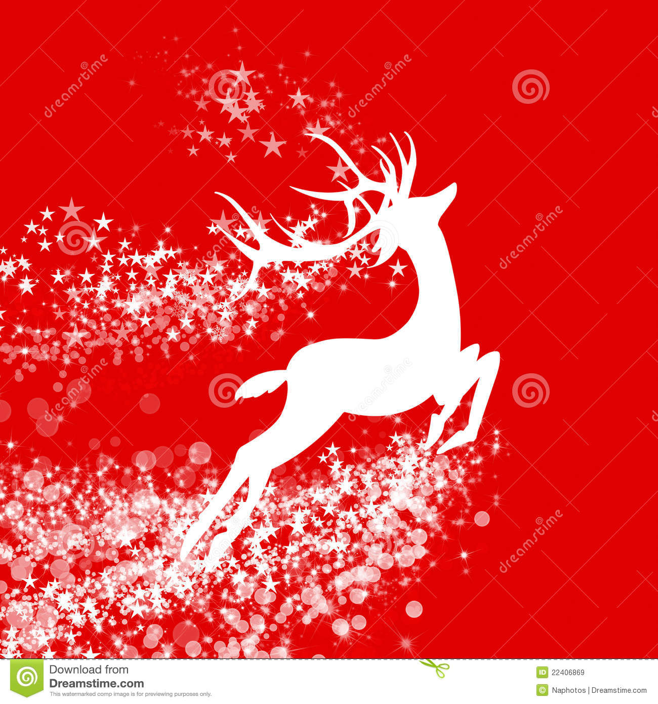 Christmas Background Reindeer Design