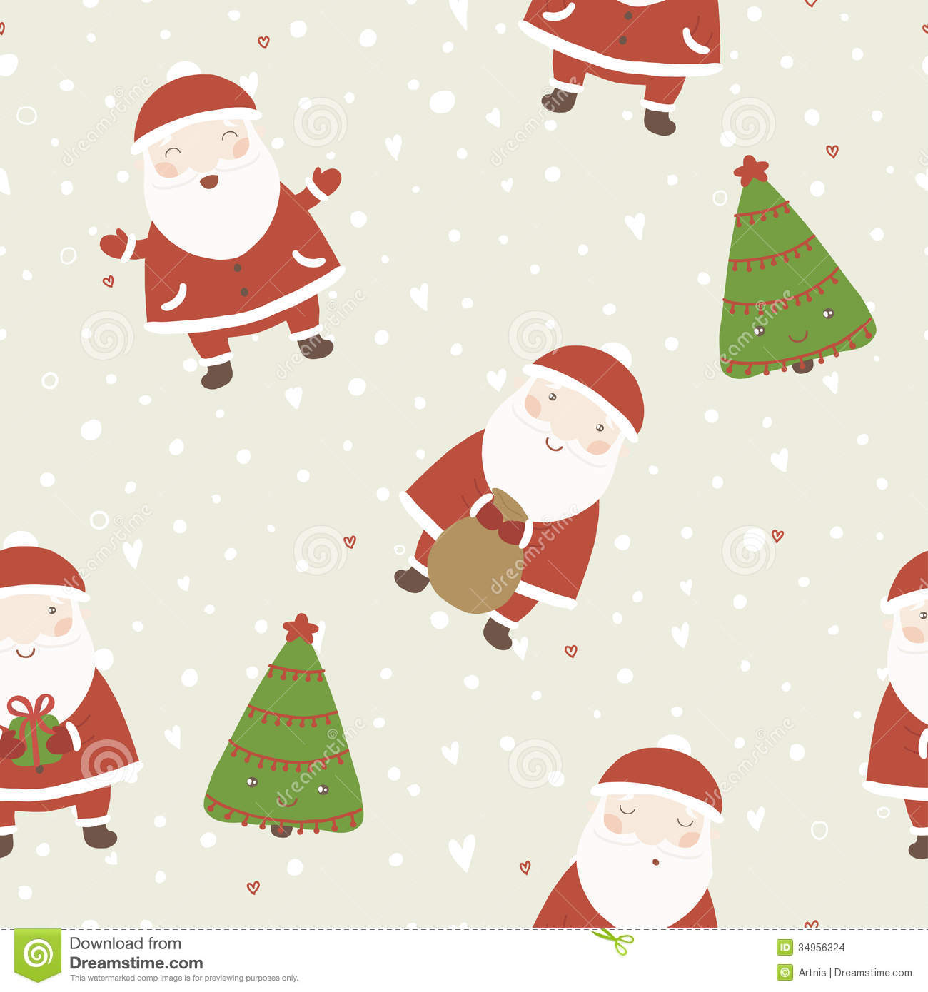 Christmas Background With Santa And Christmas Tree Stock Vector Illustration Of Santa Claus 34956324