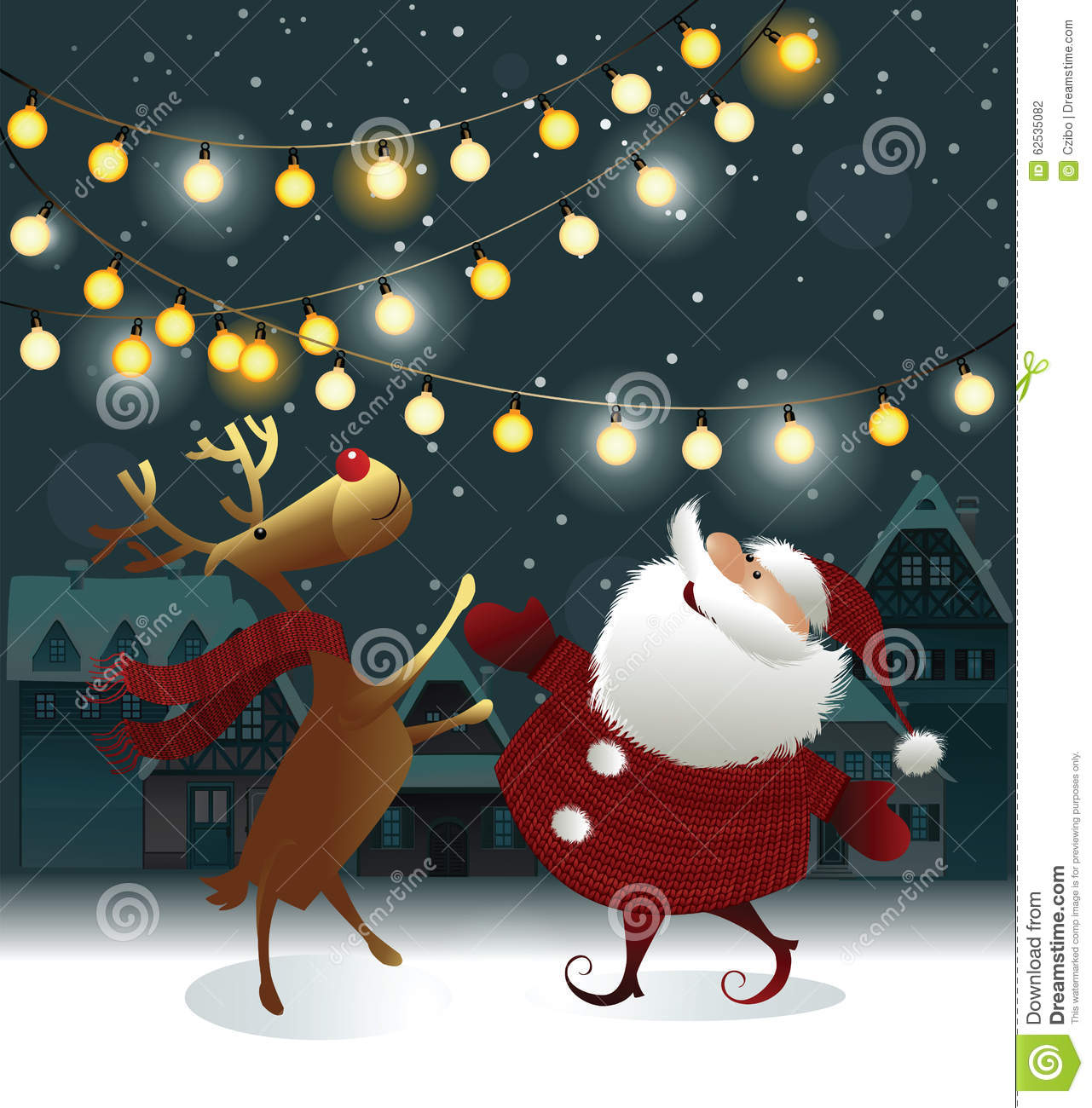 Christmas Background With Santa Claus Stock Vector