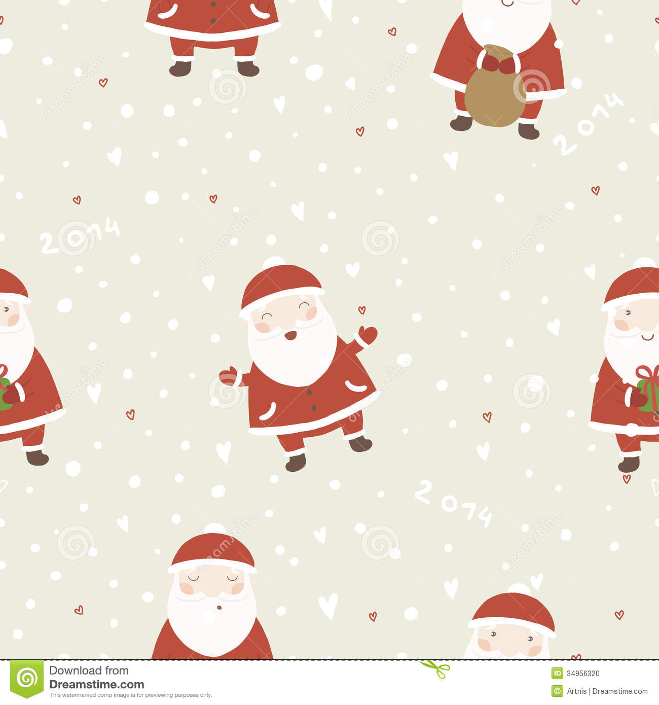 Christmas Background With Santa Claus. Stock Photo - Image: 34956320