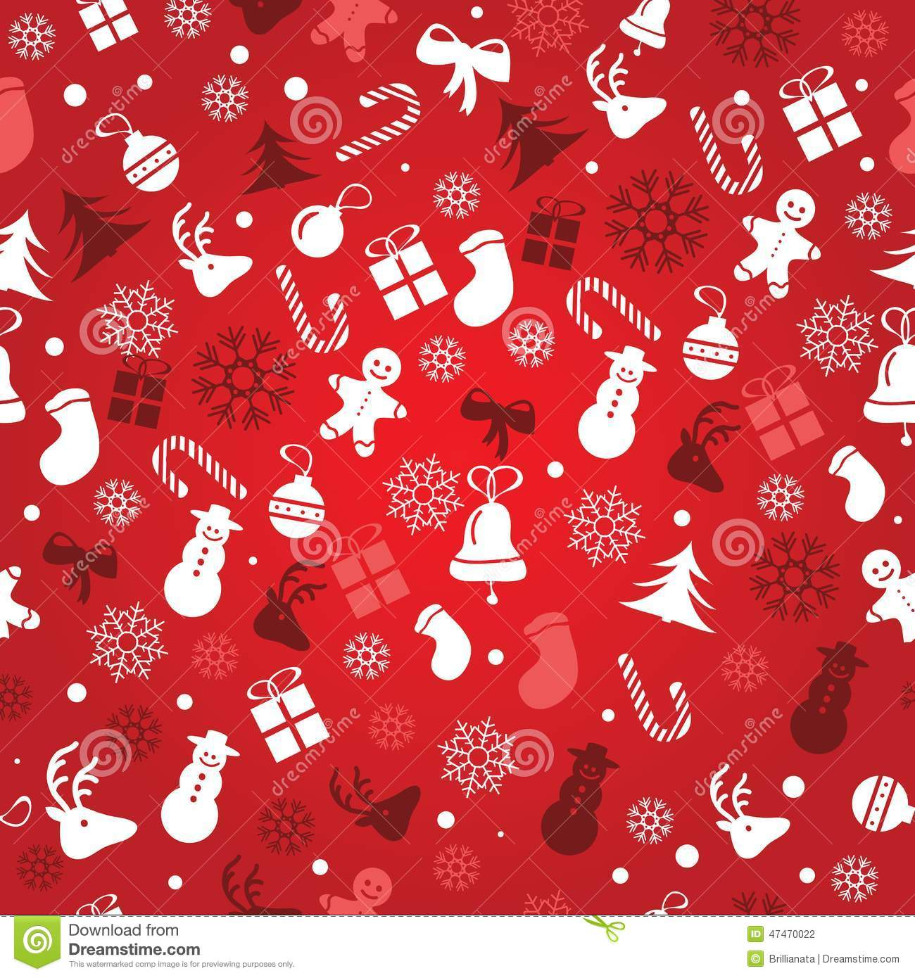 Christmas Background Seamless Tiling Great Choice For