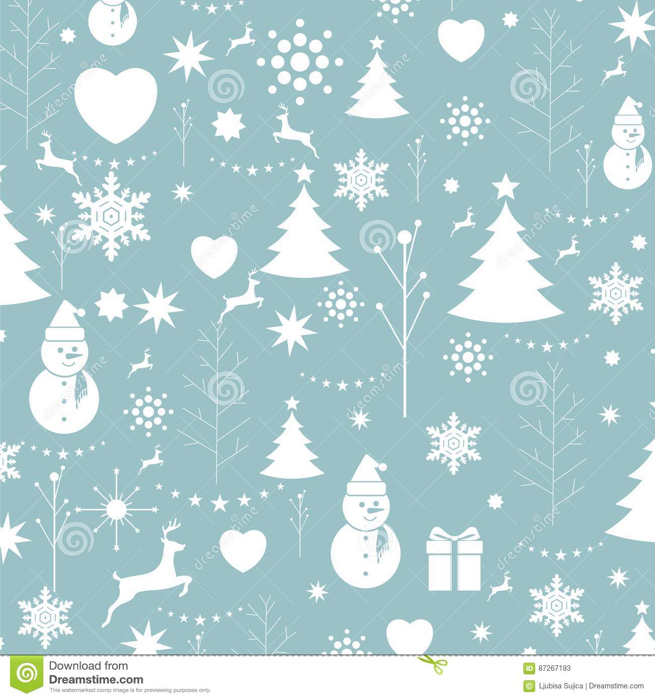 Christmas background, seamless tiling, great choice for wrapping