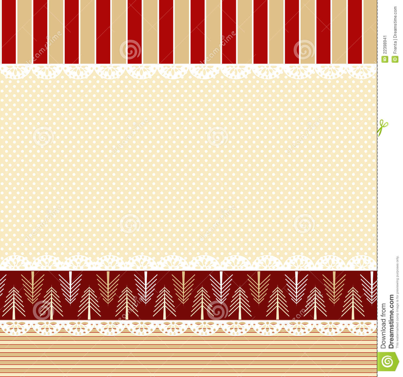 Christmas Background In Shabby Chic Style Stock Image
