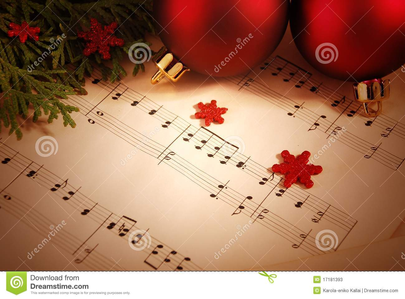 christmas background with sheet music - Christmas Background Music