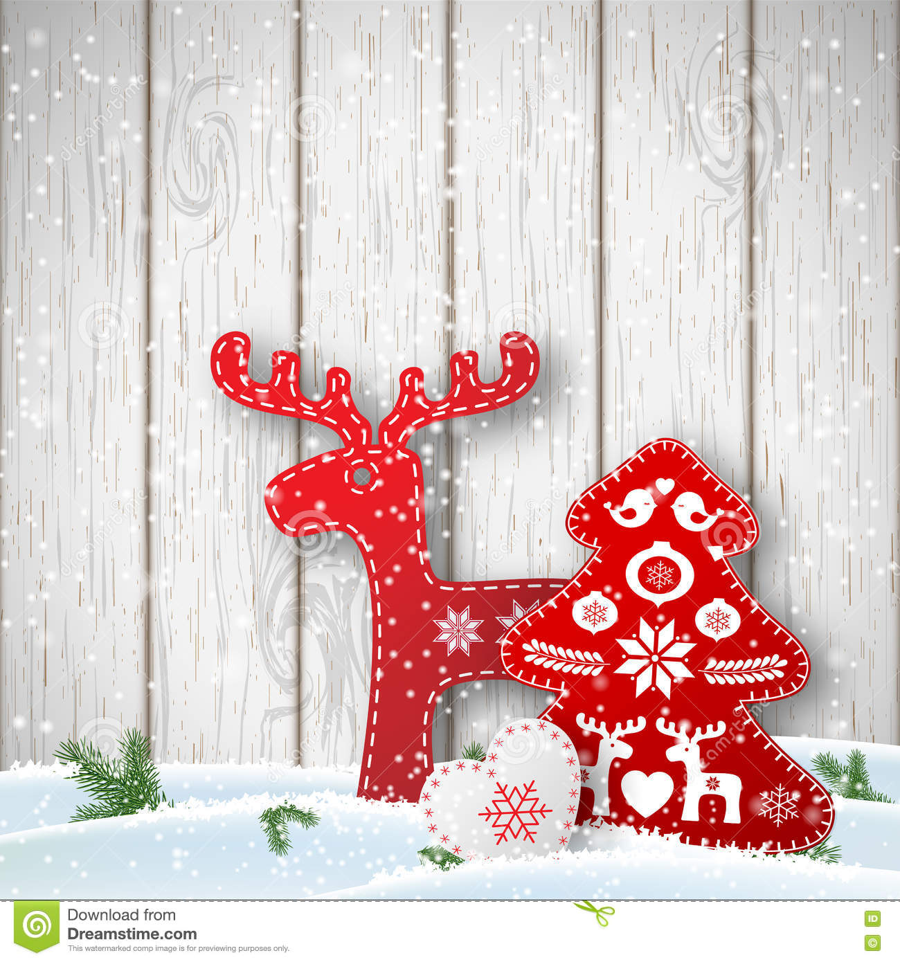Christmas Decorations For The Wall Christmas Background Small Scandinavian Styled Decorations In