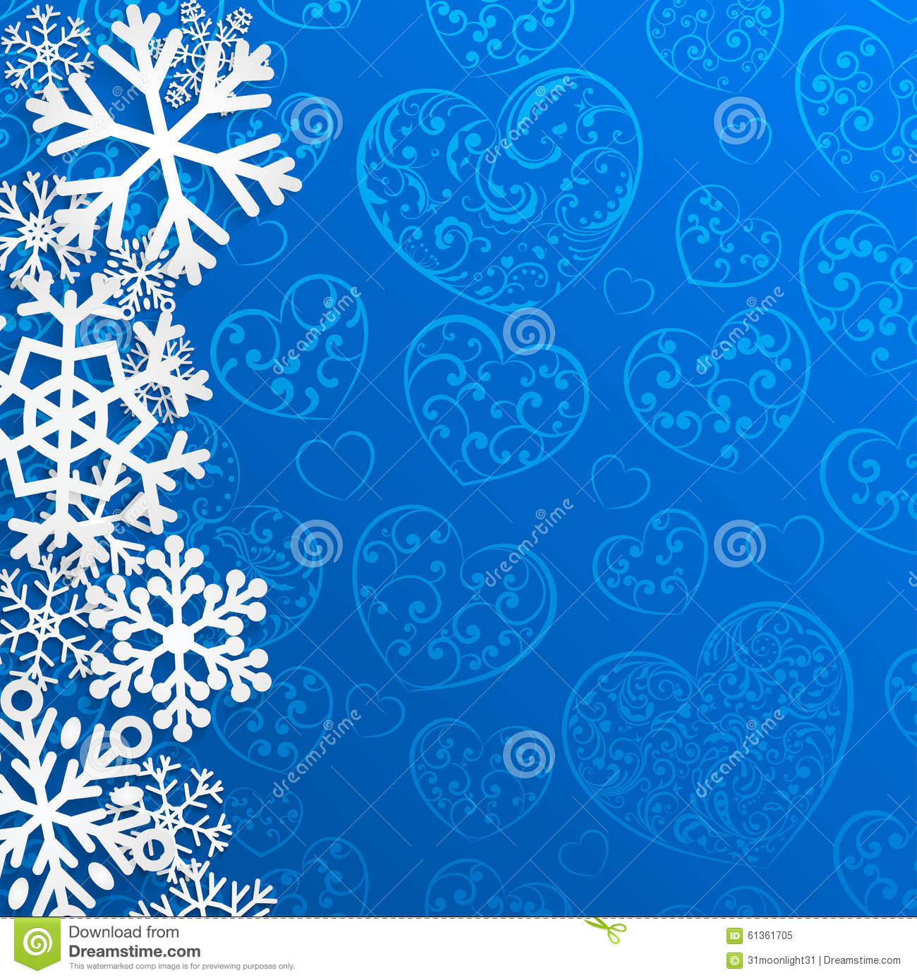 Christmas background with snowflakes on of