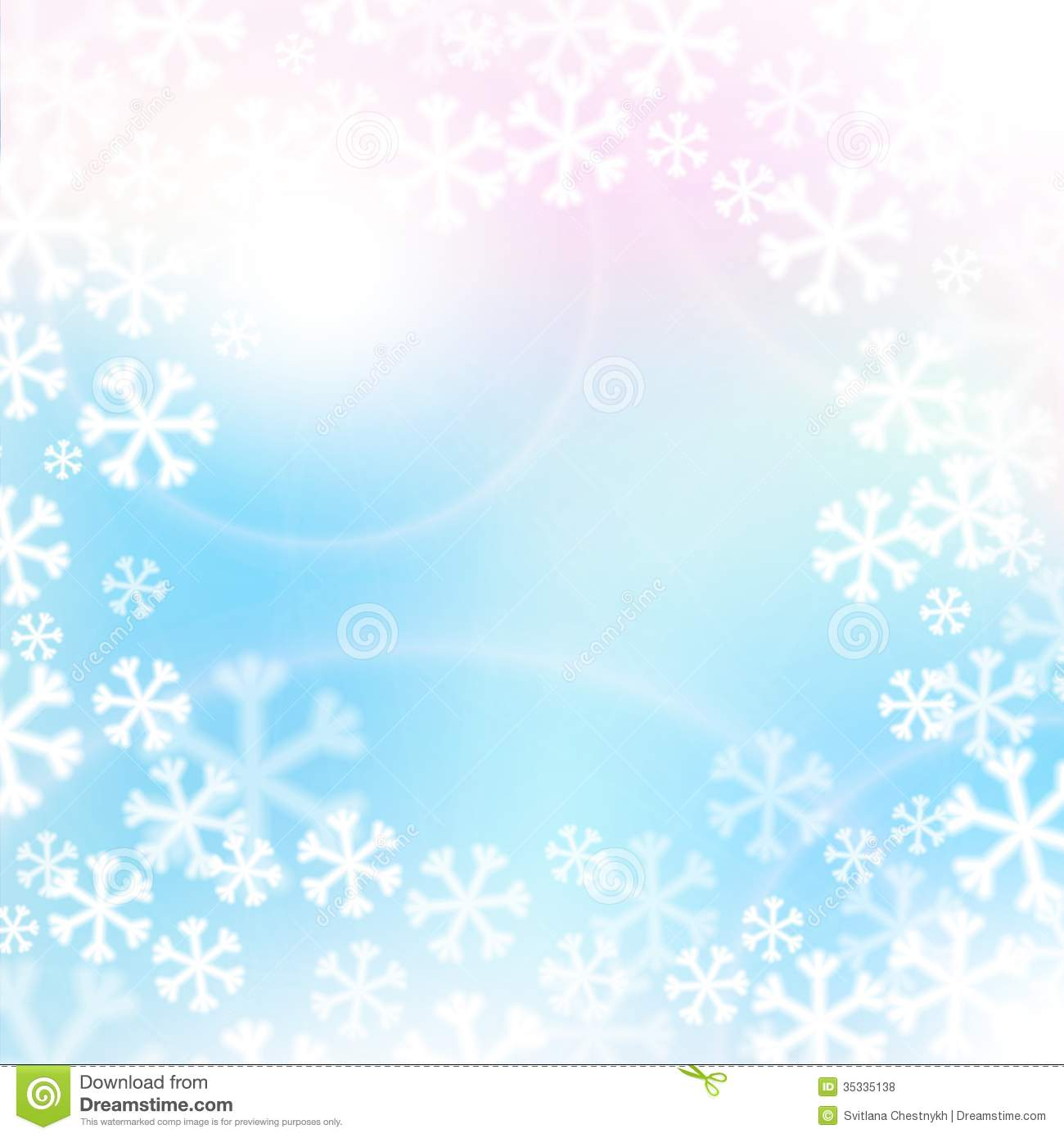 Christmas Background, Snowflakes And Soft Colors Royalty Free Stock ...