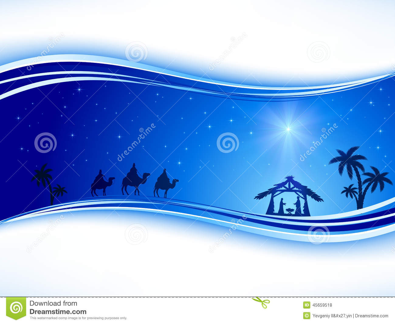 Christmas Background With Star Stock Vector - Image: 45659518