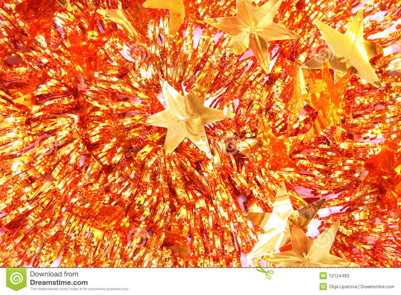 Christmas background of tinsel stock image
