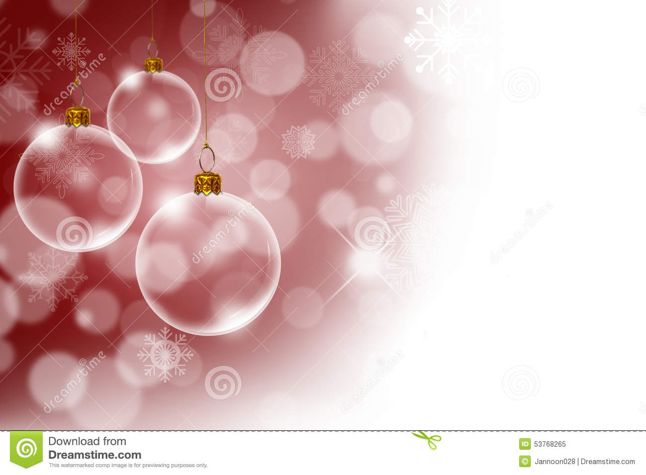 With white christmas background and snow vector vector background - Christmas Background With Transparent Christmas Stock