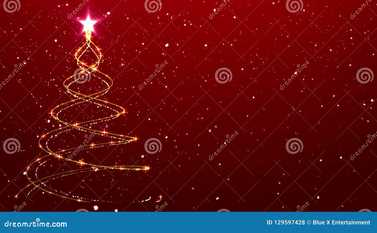 Christmas Background Tree Animated Background Falling Snow