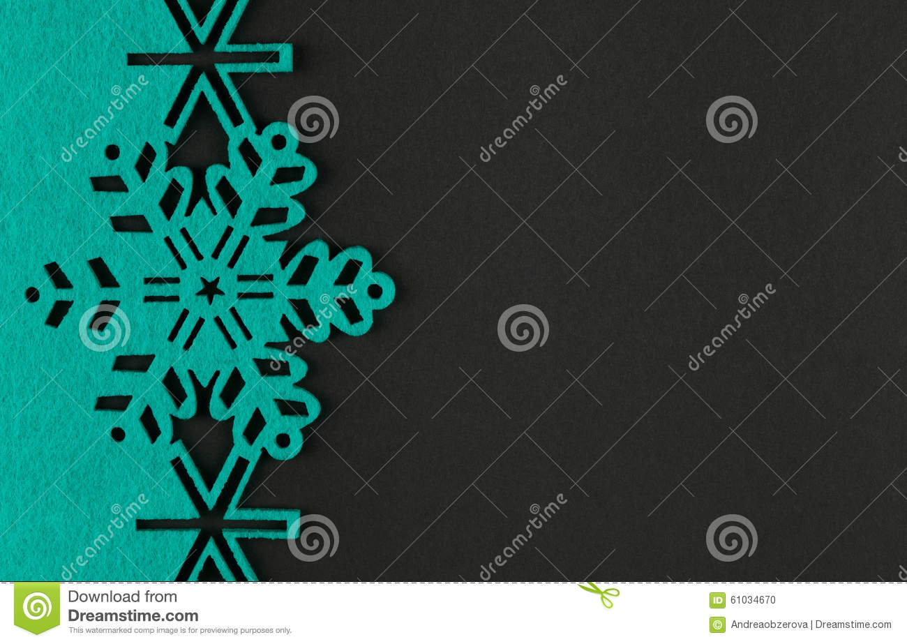 Christmas background with turquoise snowflakes and copy for Copy design