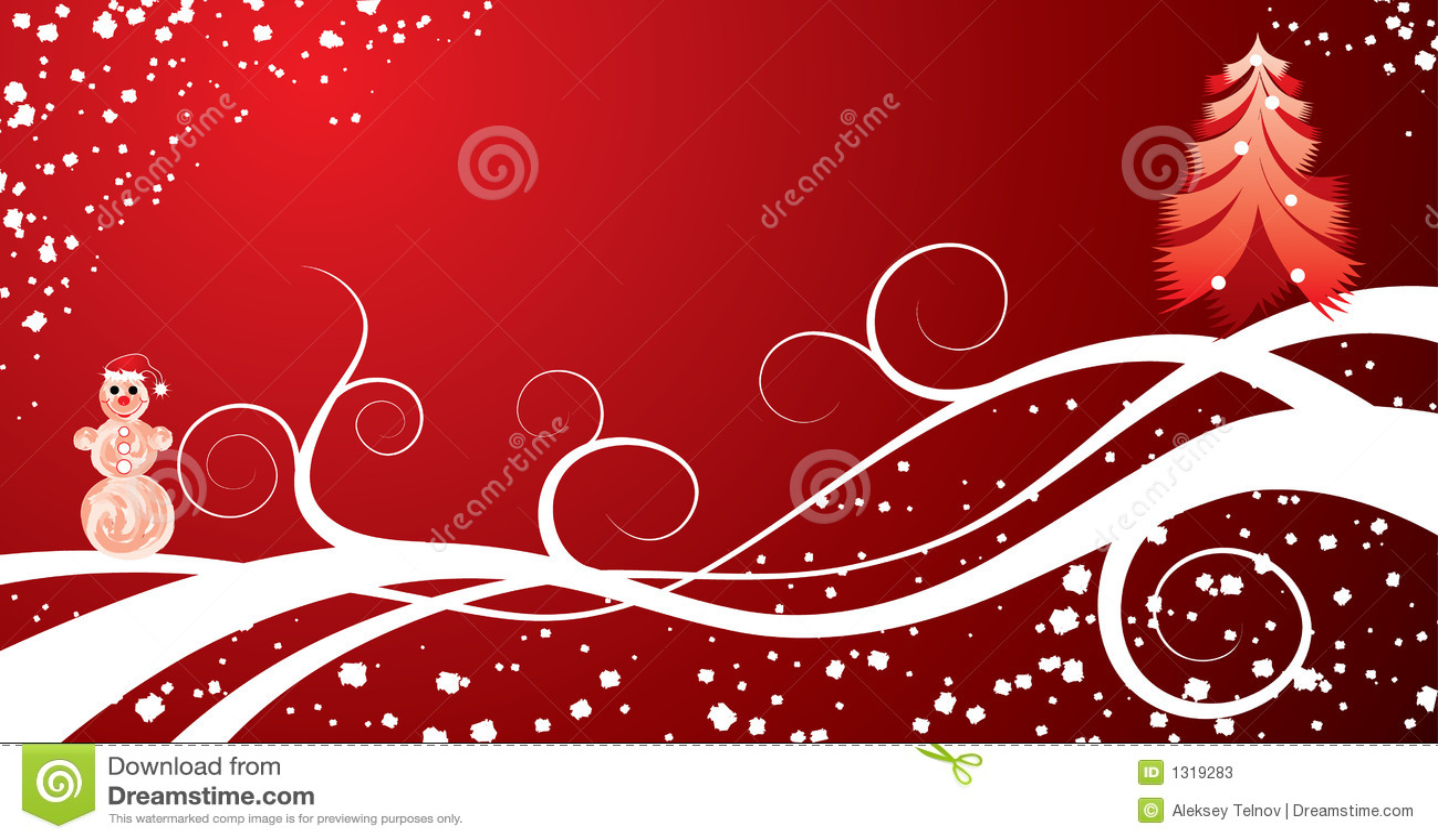 Christmas Background, Vector Stock Vector