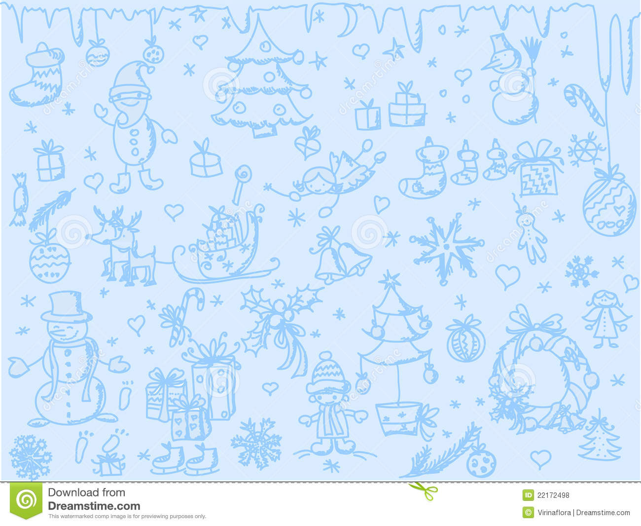 7 Inspiring Kid Room Color Options For Your Little Ones: Christmas Background, Vector Stock Vector