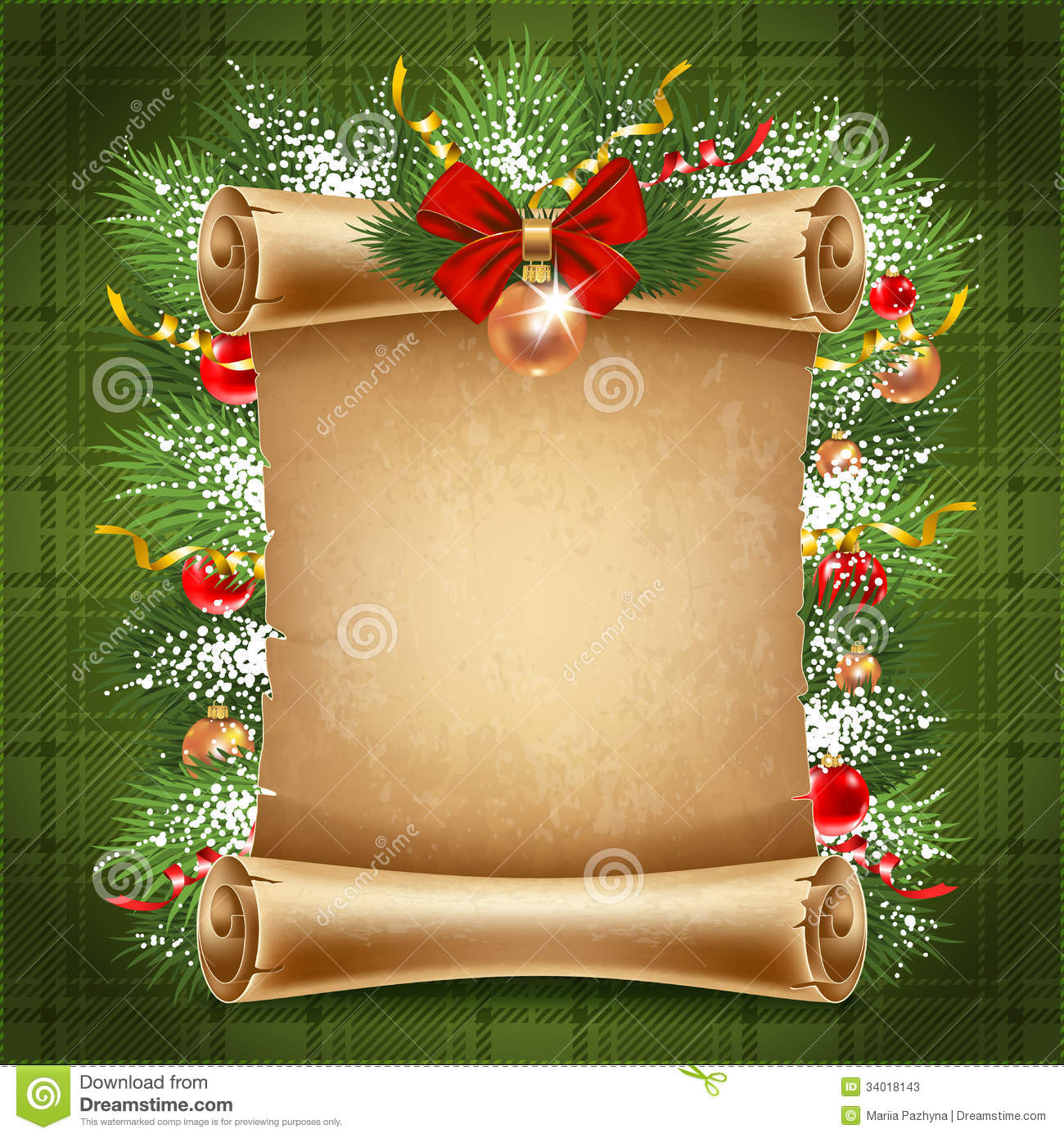 Christmas Background Stock Vector. Illustration Of