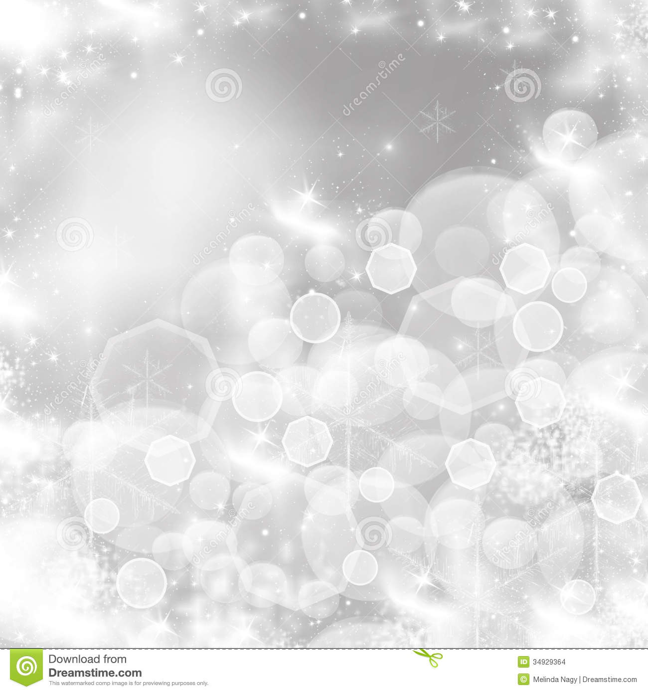 Light Christmas Background With White Snowflakes Royalty Free ...