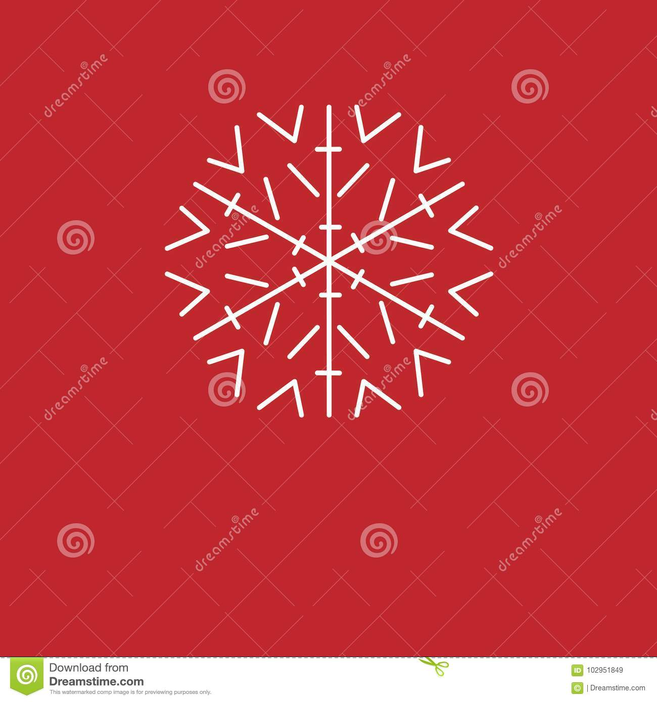 Christmas Background. White Snowflakes On Red Background. Background ...