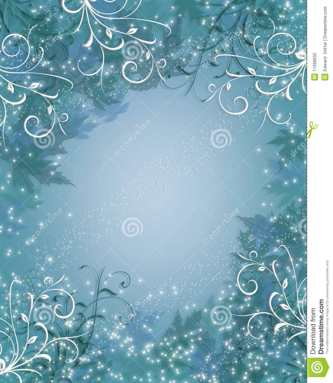 christmas background winter sparkle blue stock photography