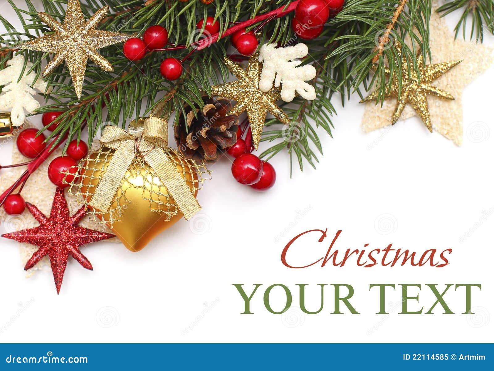 Christmas background with Xmas decoration