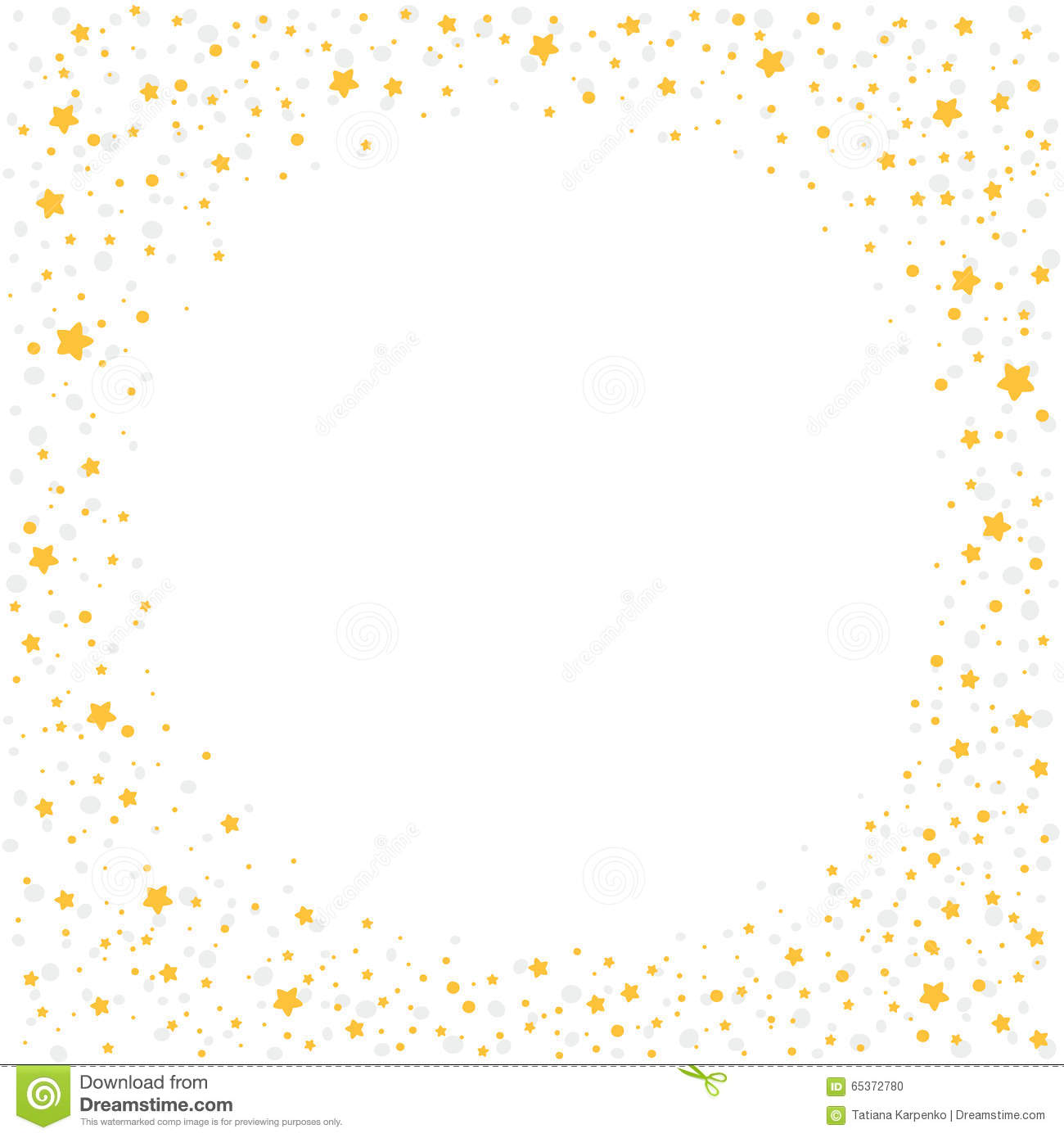 christmas background with yellow stars stock vector illustration