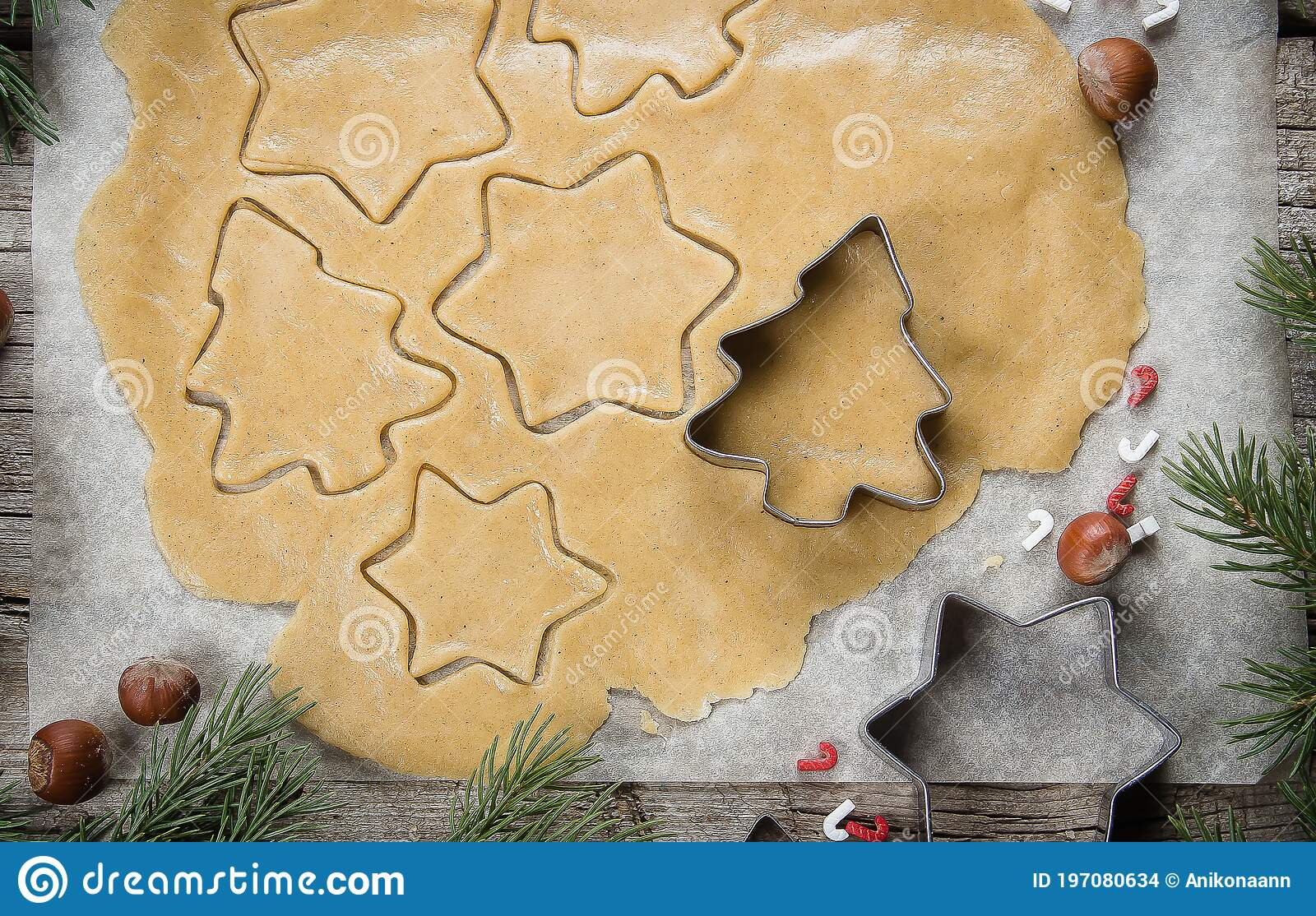 2021 Christmas Cookies Christmas Bakery Concept Gingerbread Raw Dough For Christmas Cookies Happy New Year 2021 Top View Stock Photo Image Of Holiday Cinnamon 197080634