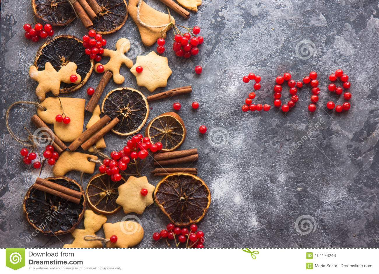 Christmaschristmas Baking Background With Assorted Christmas Cookies