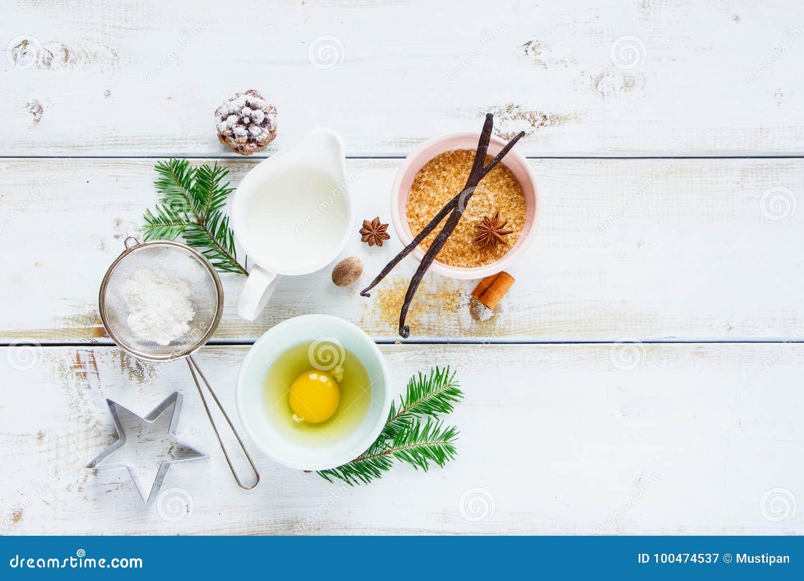 Christmas Baking Background Stock Image - Image of decoration ...