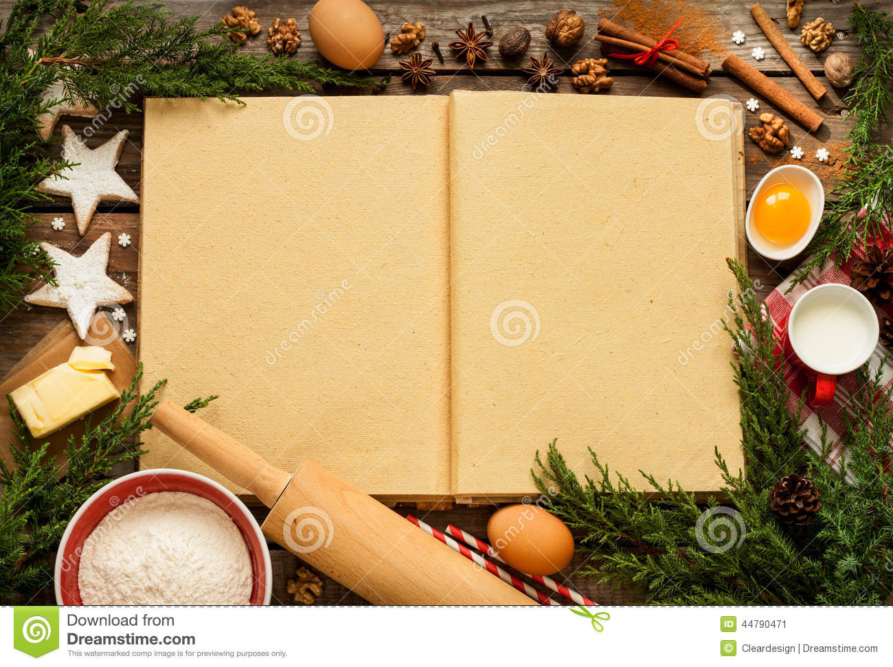christmas baking background with - photo #18