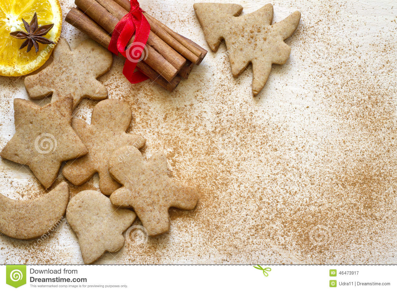 christmas baking background with - photo #21