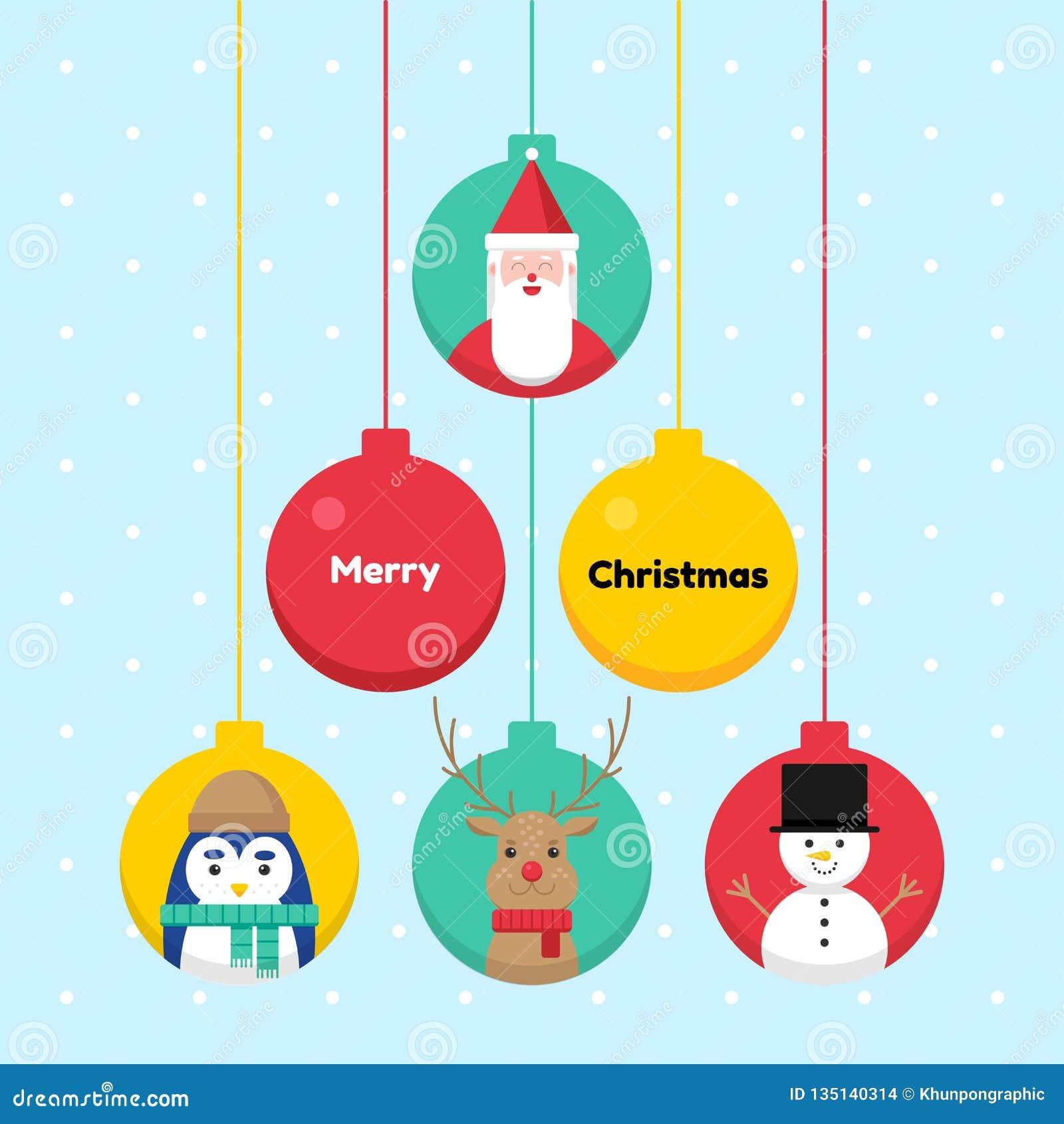 6e6b38fca2a38 Christmas ball cartoon concept holiday celebration vector design cartoon