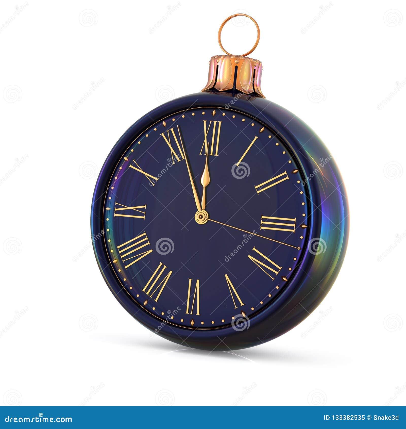 Christmas Ball Clock New Year`s Eve Midnight Last Hour ...