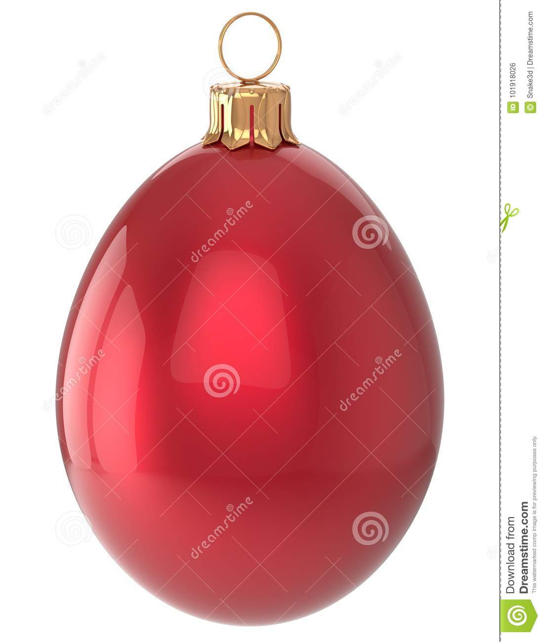 Christmas Ball Egg New Years Eve Bauble Red Decoration ...