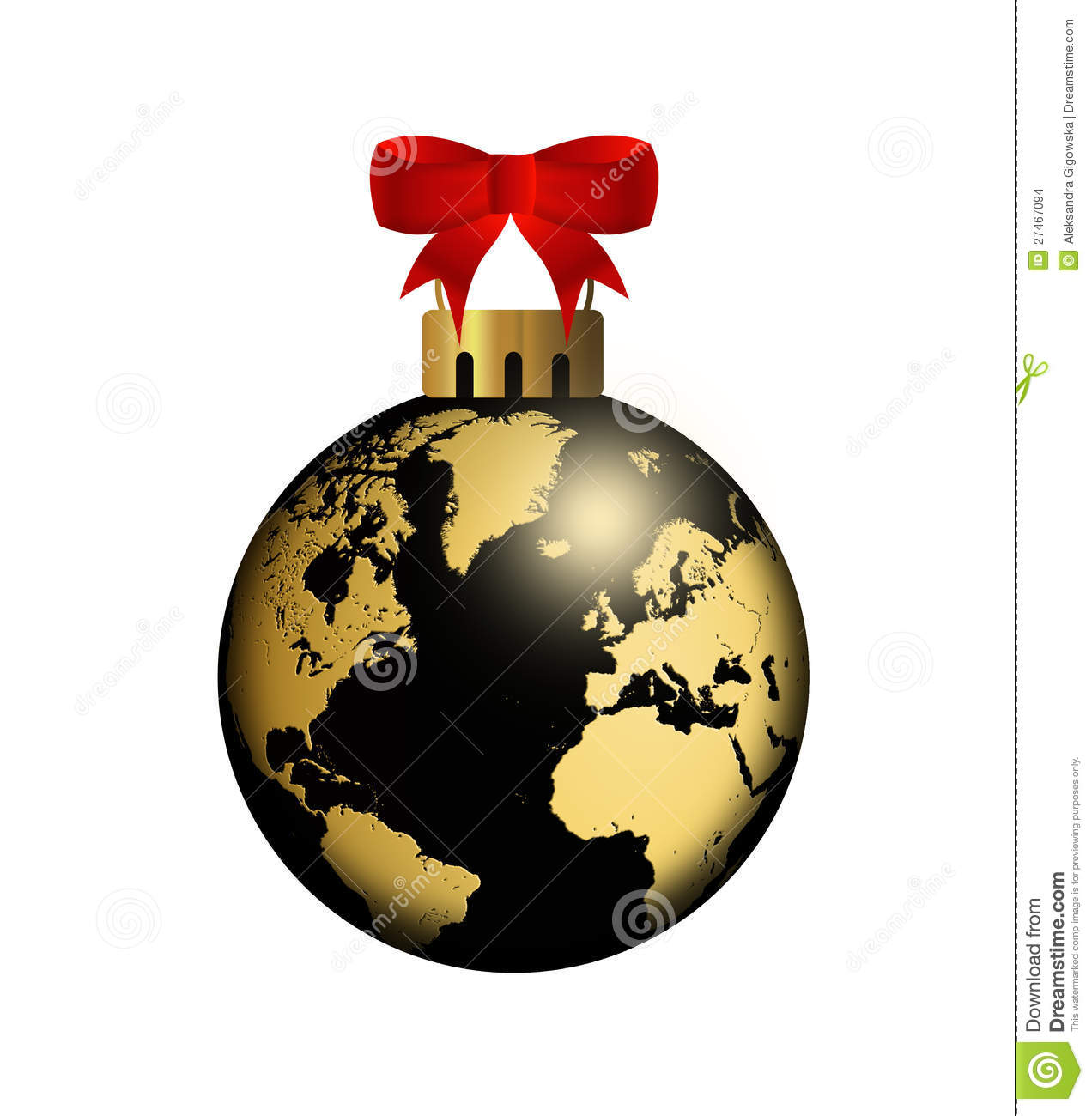 World globe christmas ornaments - Ball Christmas Design Globe Concept Illustration World