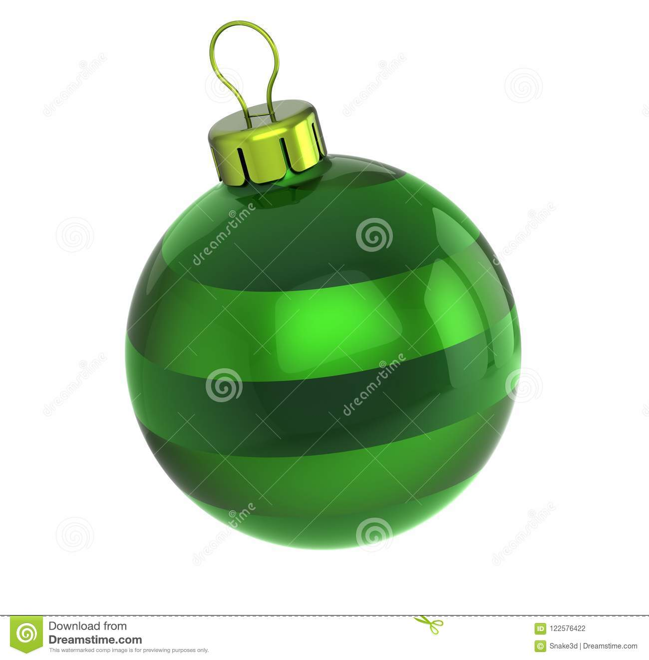 Christmas Ball Green Bauble New Years Eve Wintertime ...