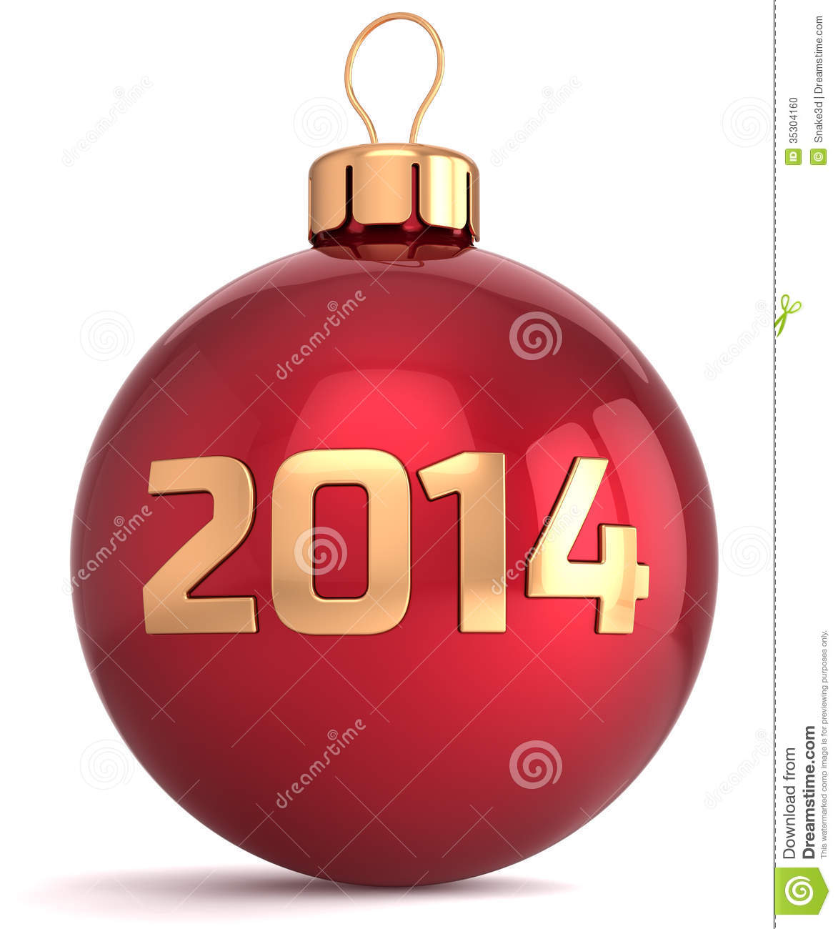Christmas ball new 2014 year bauble decoration stock photo for 2014 christmas decoration