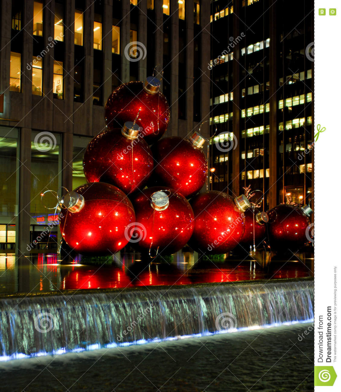Christmas Ball Ornaments In Manhattan, NYC Editorial Photography ...