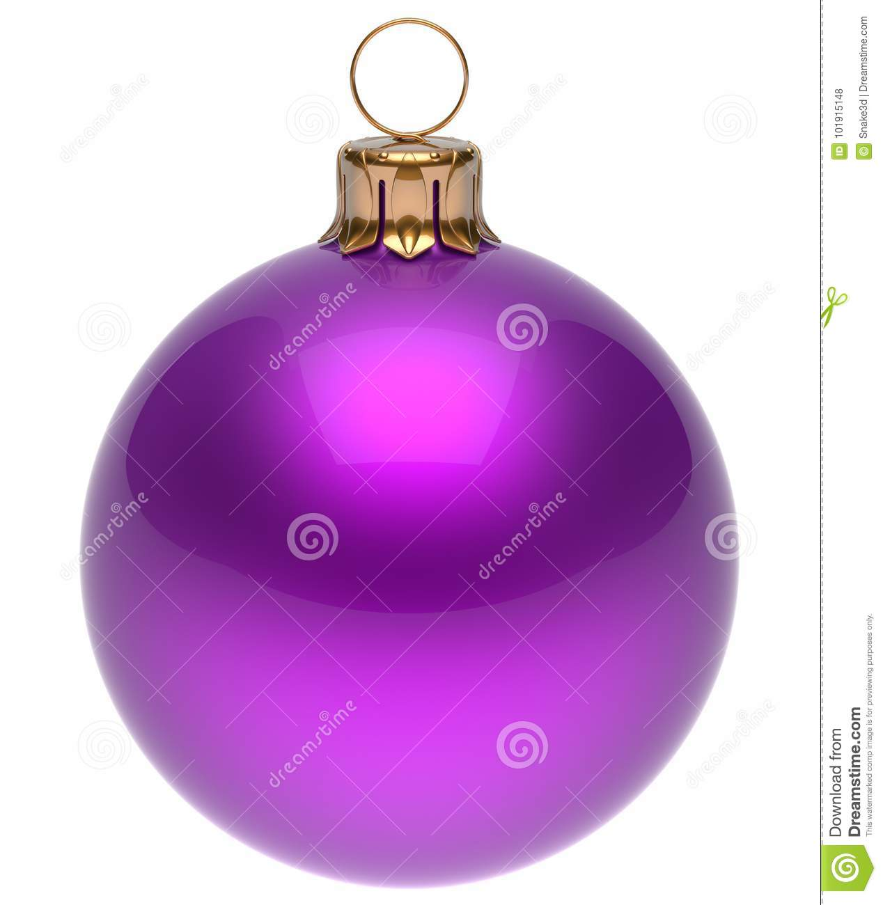 Christmas Ball Purple New Year`s Eve Bauble Decoration ...
