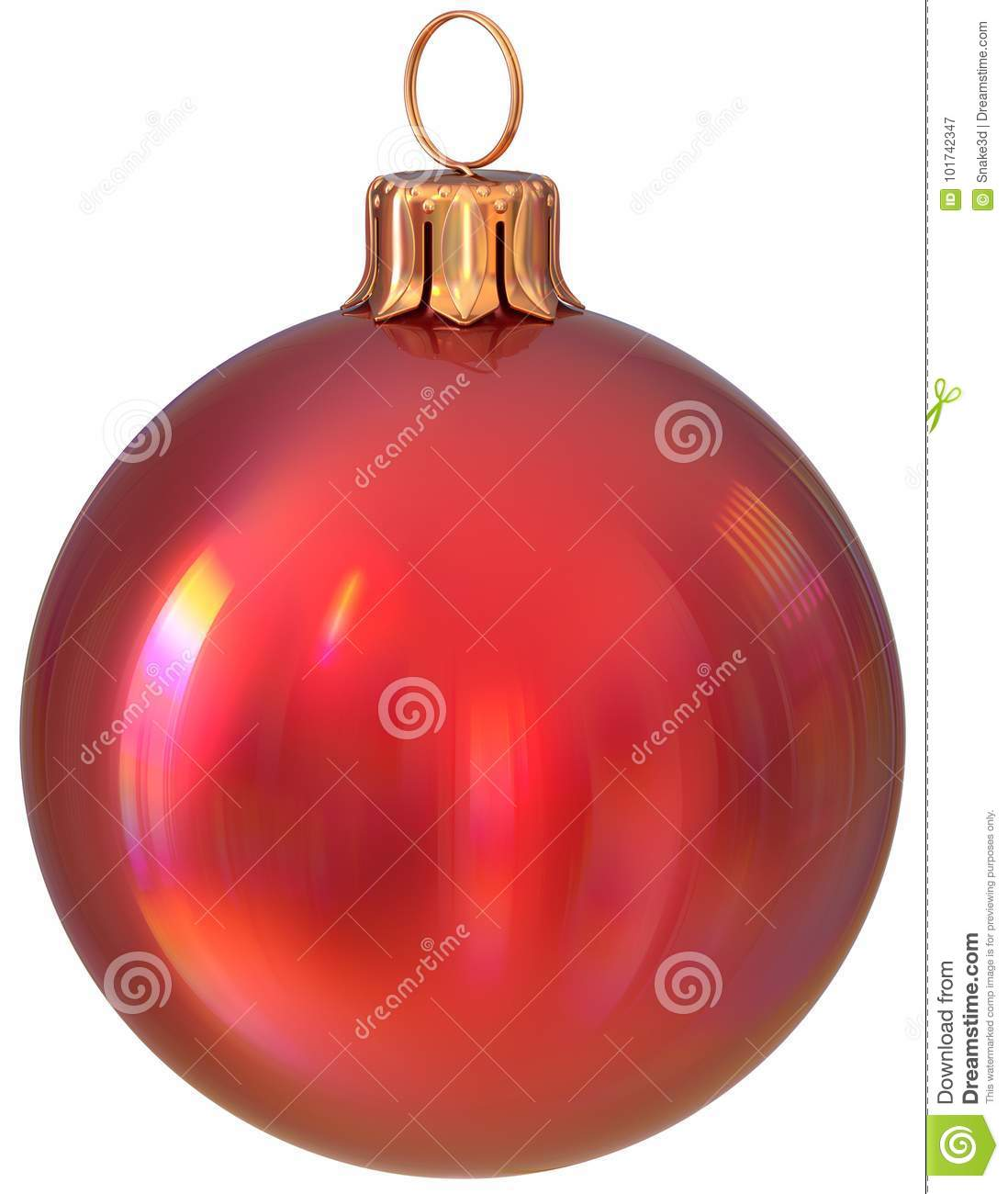 Christmas Ball Red New Years Eve Bauble Decoration Shiny ...